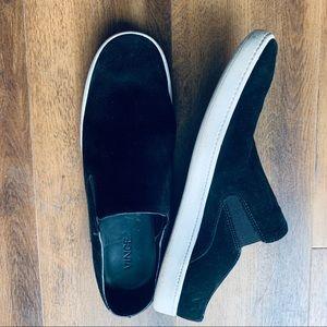 Vince suede slip on casual sneakers black sz 9